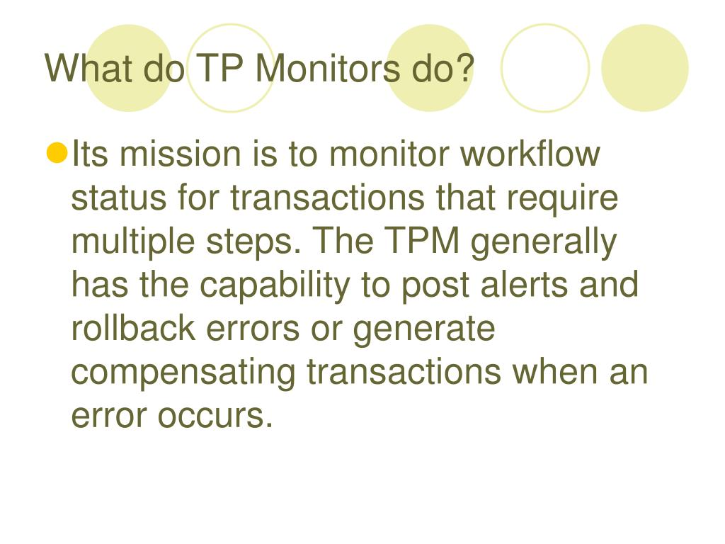 What do TP Monitors do?