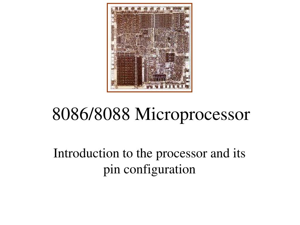 Ppt - 8086  8088 Microprocessor Powerpoint Presentation