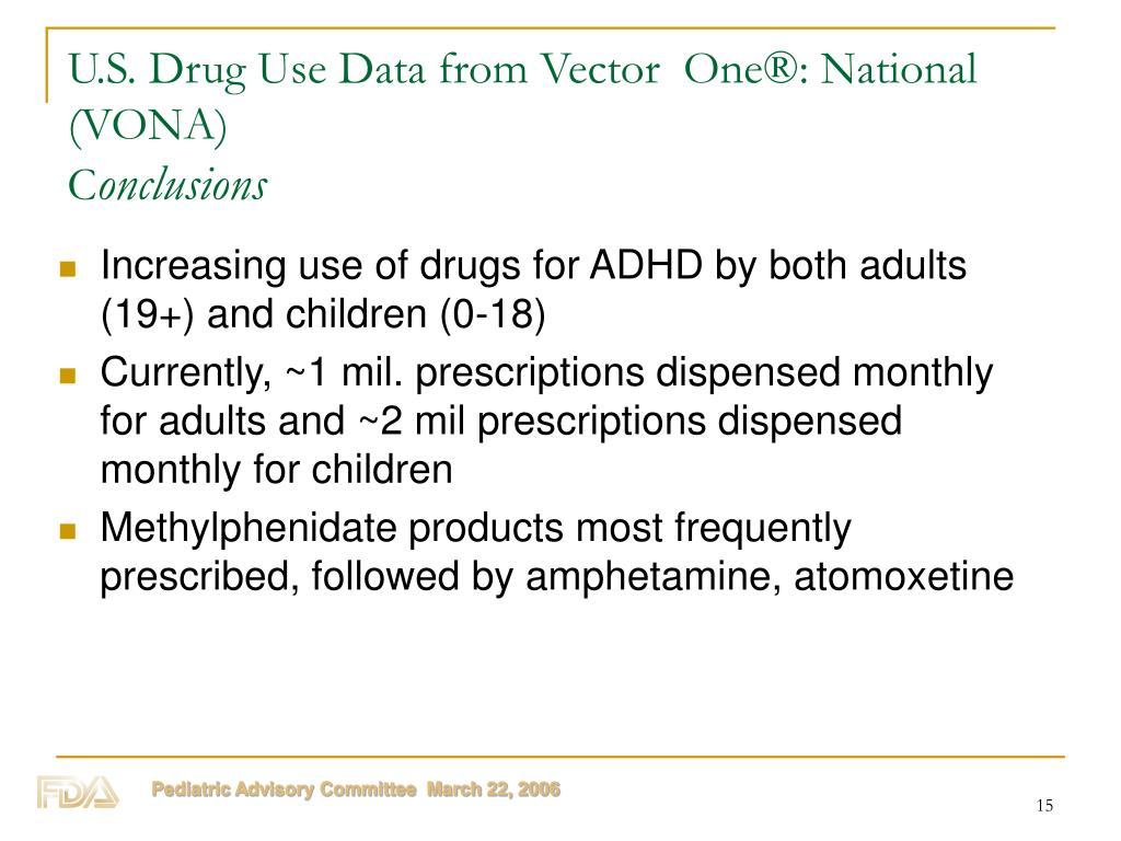 U.S. Drug Use Data from Vector  One®: National (VONA)