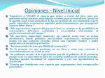 opiniones nivel inicial
