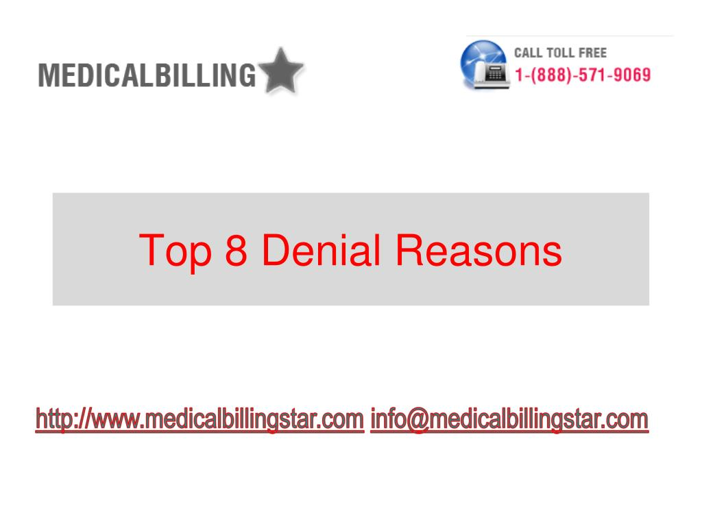 Top 8 Denial Reasons