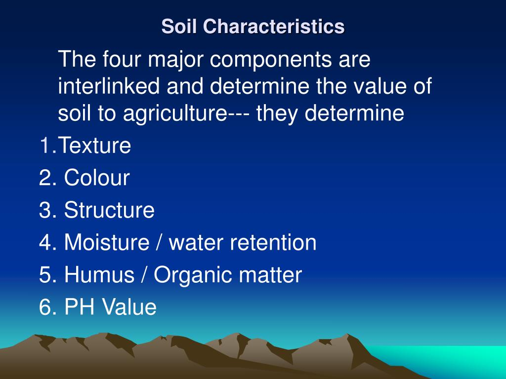 Ppt soils powerpoint presentation id 441626 for Four main components of soil