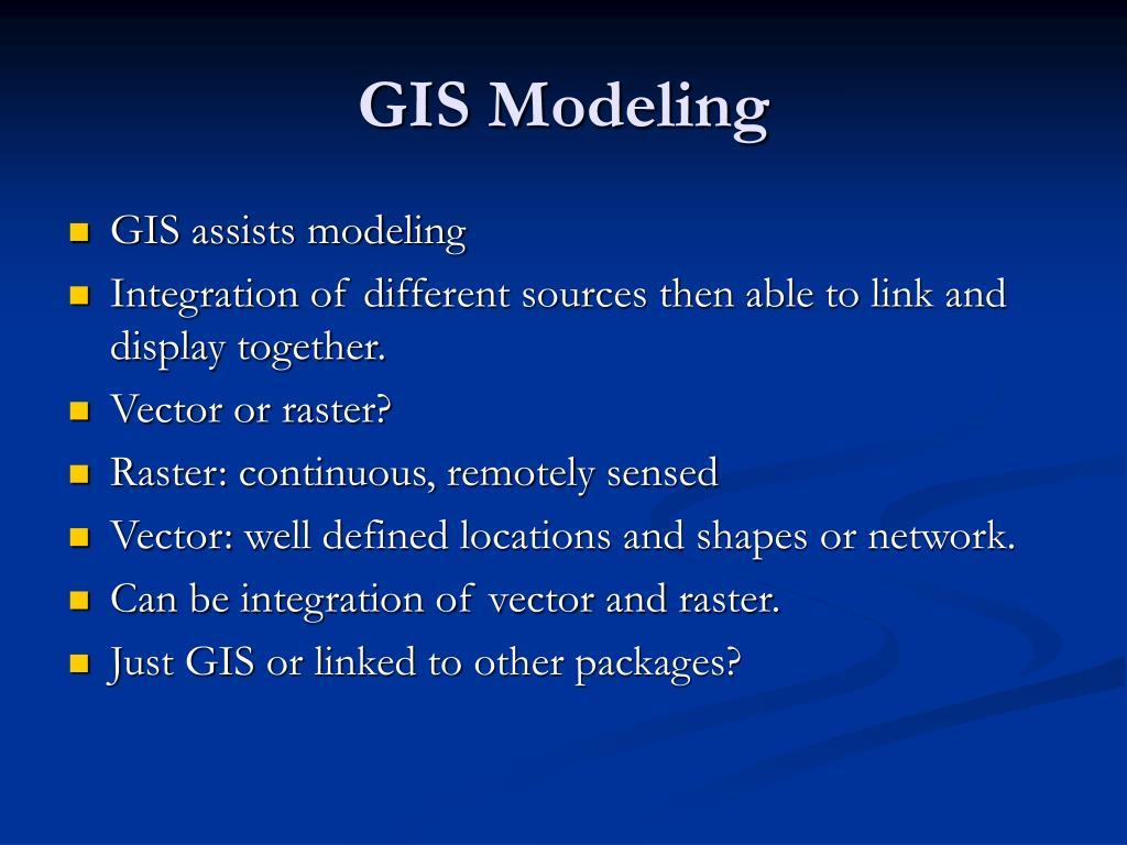 GIS Modeling