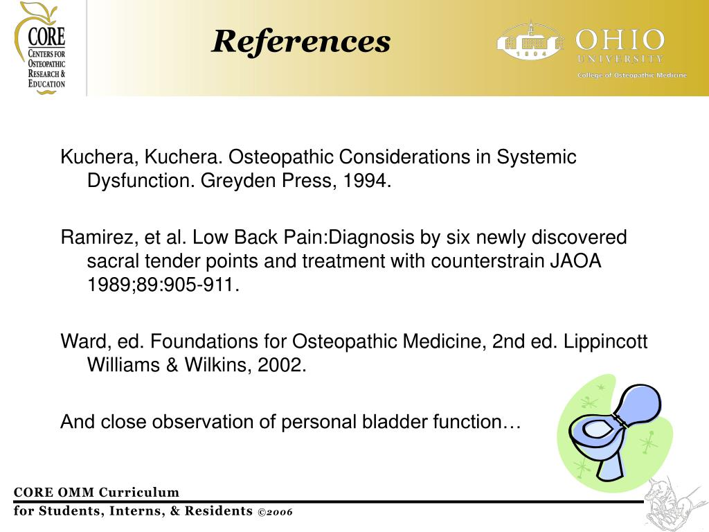 Kuchera, Kuchera. Osteopathic Considerations in Systemic Dysfunction. Greyden Press, 1994.