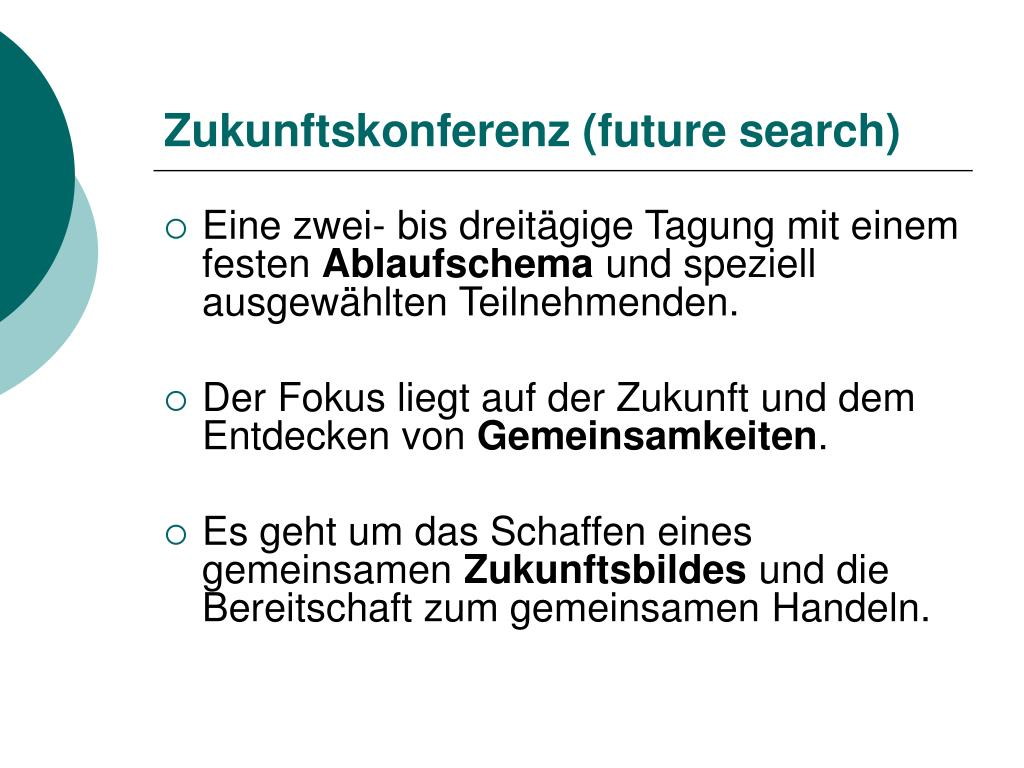 Zukunftskonferenz (future search)