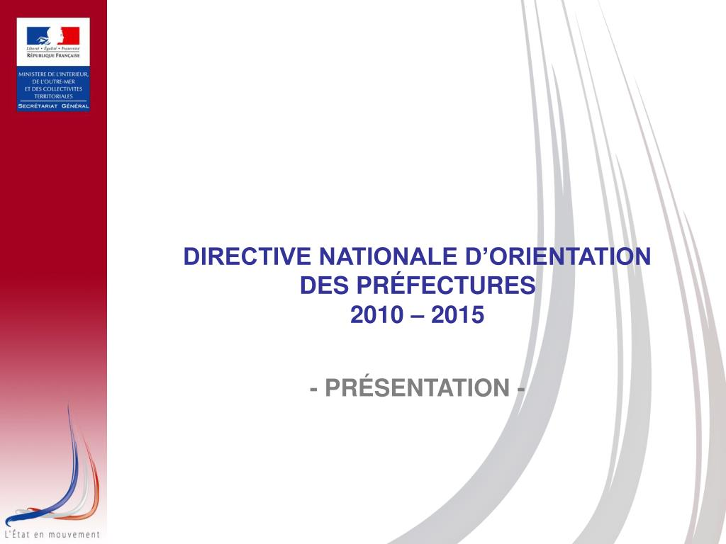 DIRECTIVE NATIONALE D'ORIENTATION