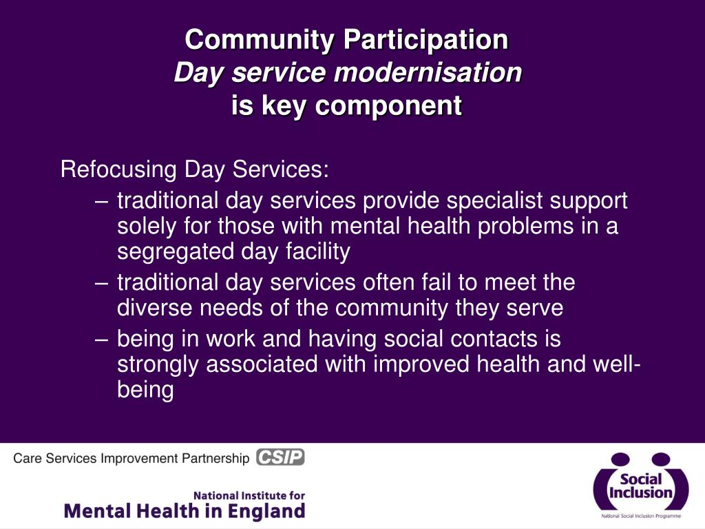healthcare services and delivery community participation Are our expectations for community participation too high or is it,  are an  instrument to deliver services at the heart of communities, mostly on.