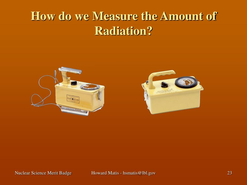 How do we Measure the Amount of Radiation?