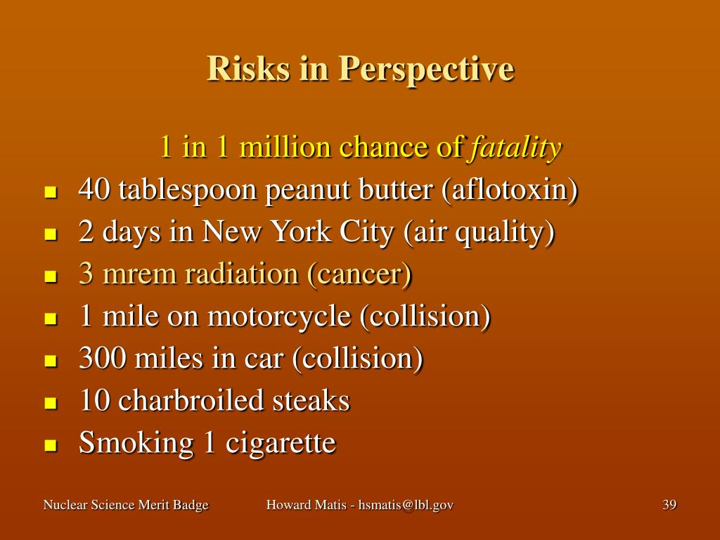 Risks in Perspective