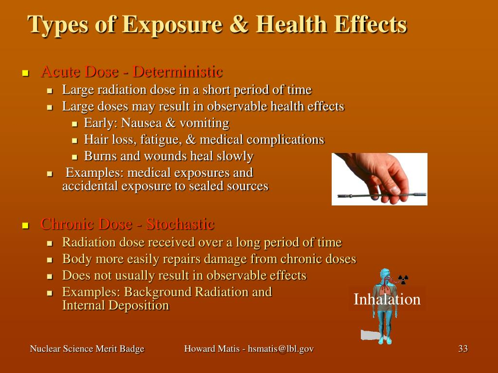 Types of Exposure & Health Effects
