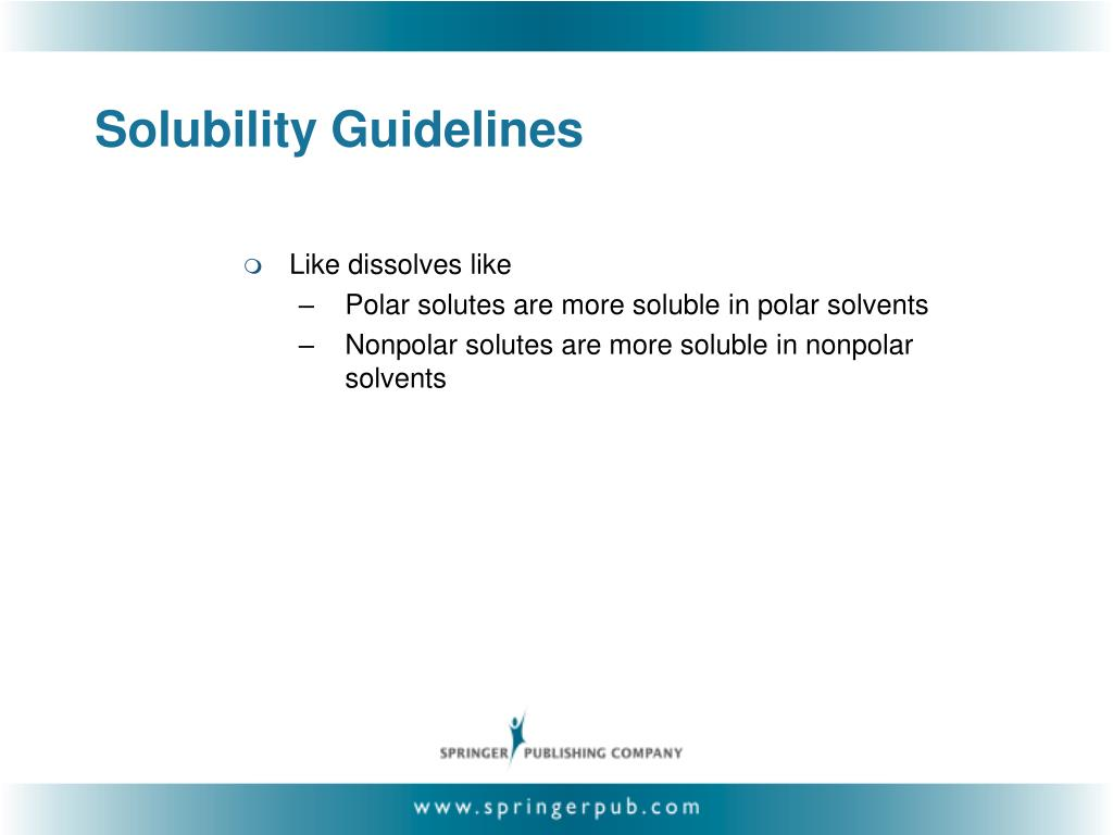 Solubility Guidelines