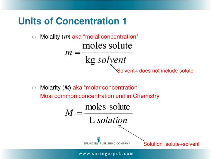 Units of concentration 1