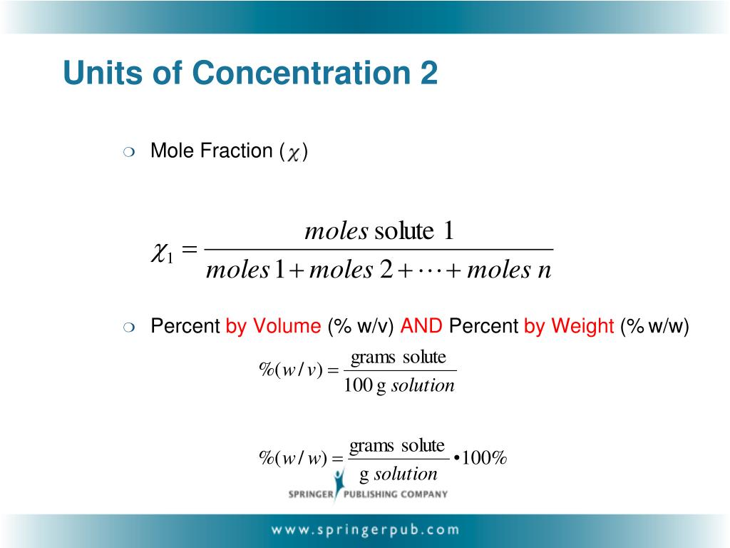 Units of Concentration 2