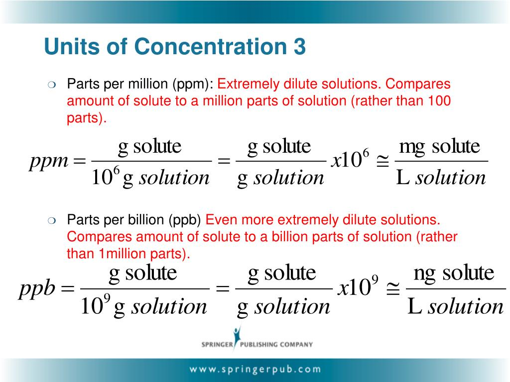 Units of Concentration 3