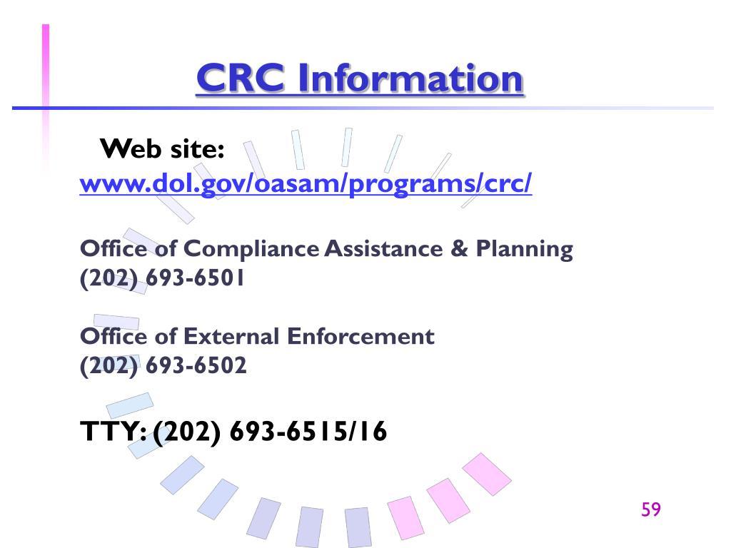 CRC Information