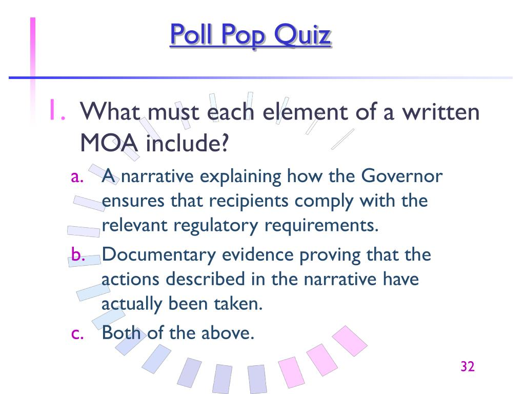 Poll Pop Quiz