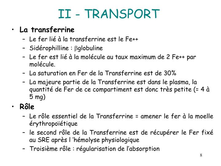 II - TRANSPORT