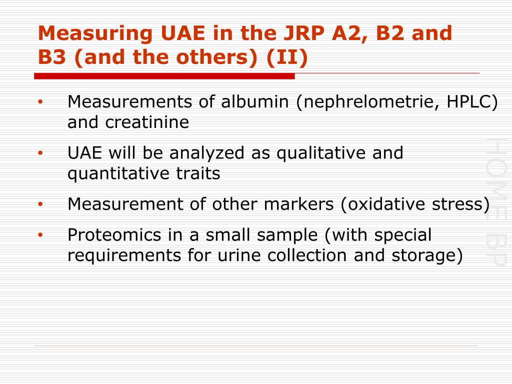 Measuring UAE in the JRP A2, B2 and B3 (and the others) (II)