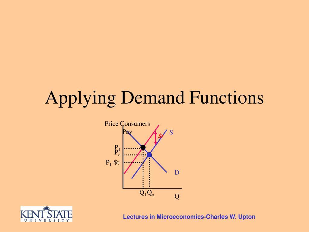 Applying Demand Functions
