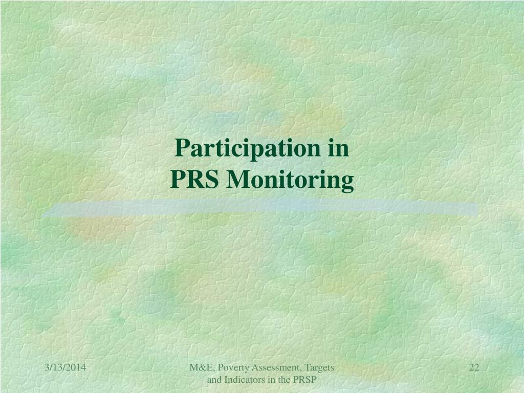 Participation in