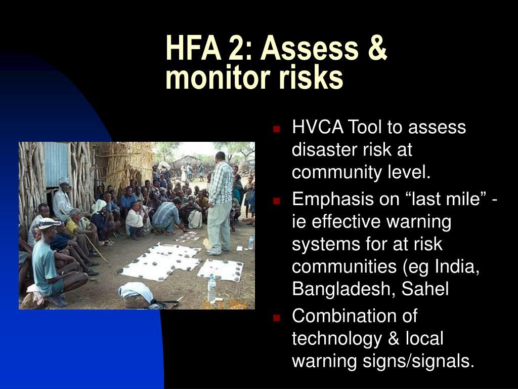 HFA 2: Assess & monitor risks