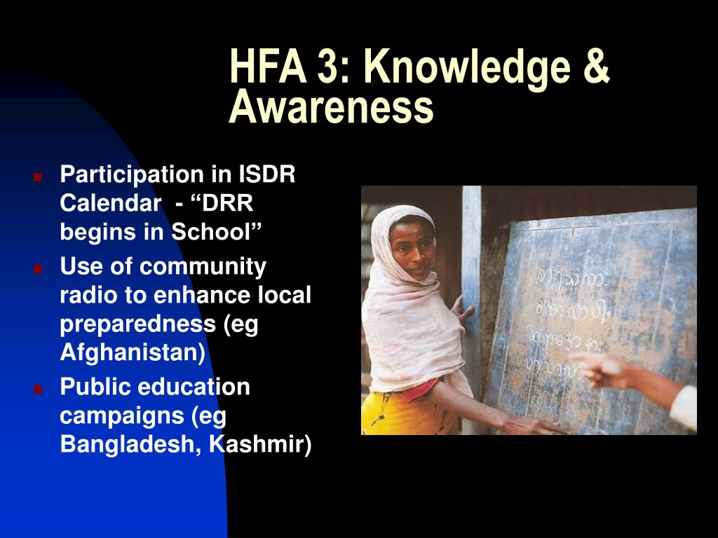 HFA 3: Knowledge & Awareness