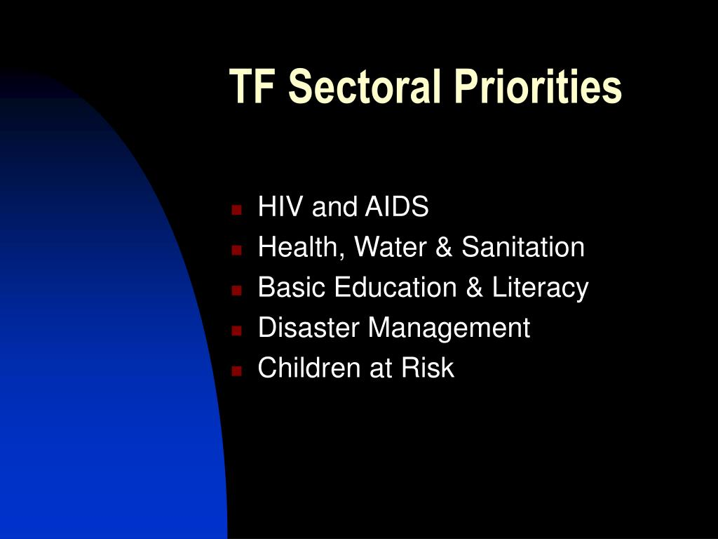 TF Sectoral Priorities