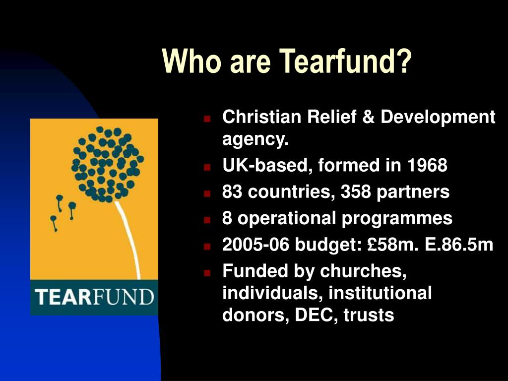 Who are Tearfund?