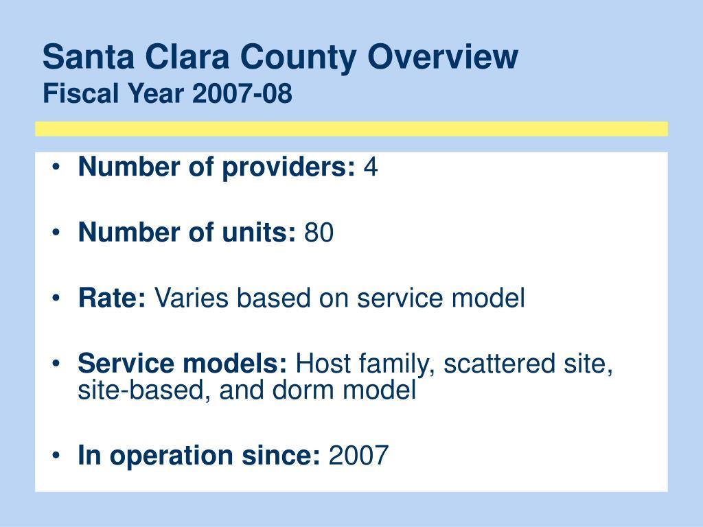 Santa Clara County Overview