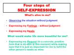 four steps of self expression