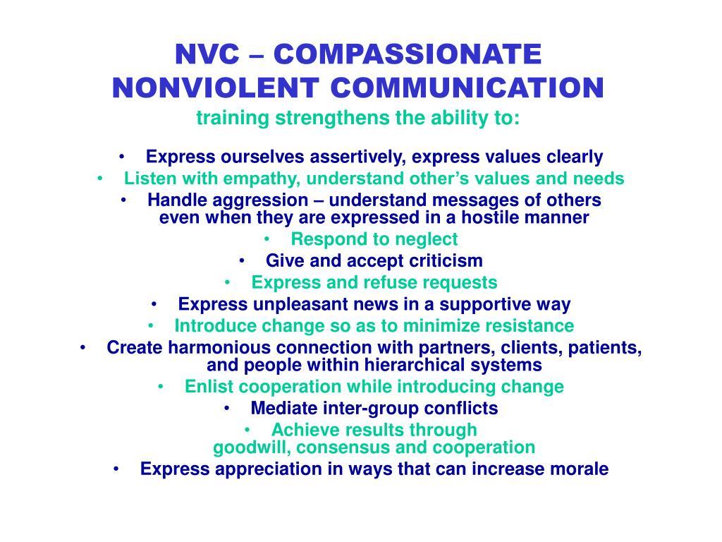 NVC – COMPASSIONATE