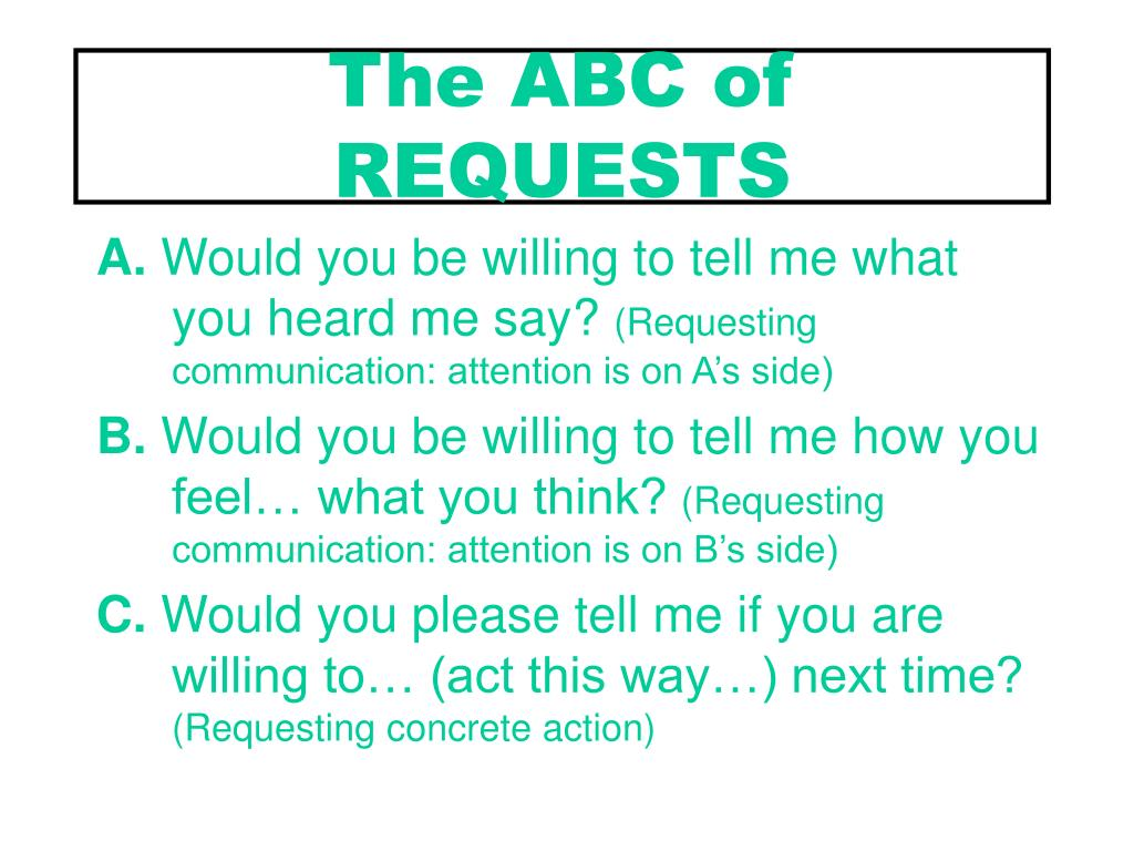 The ABC of REQUESTS