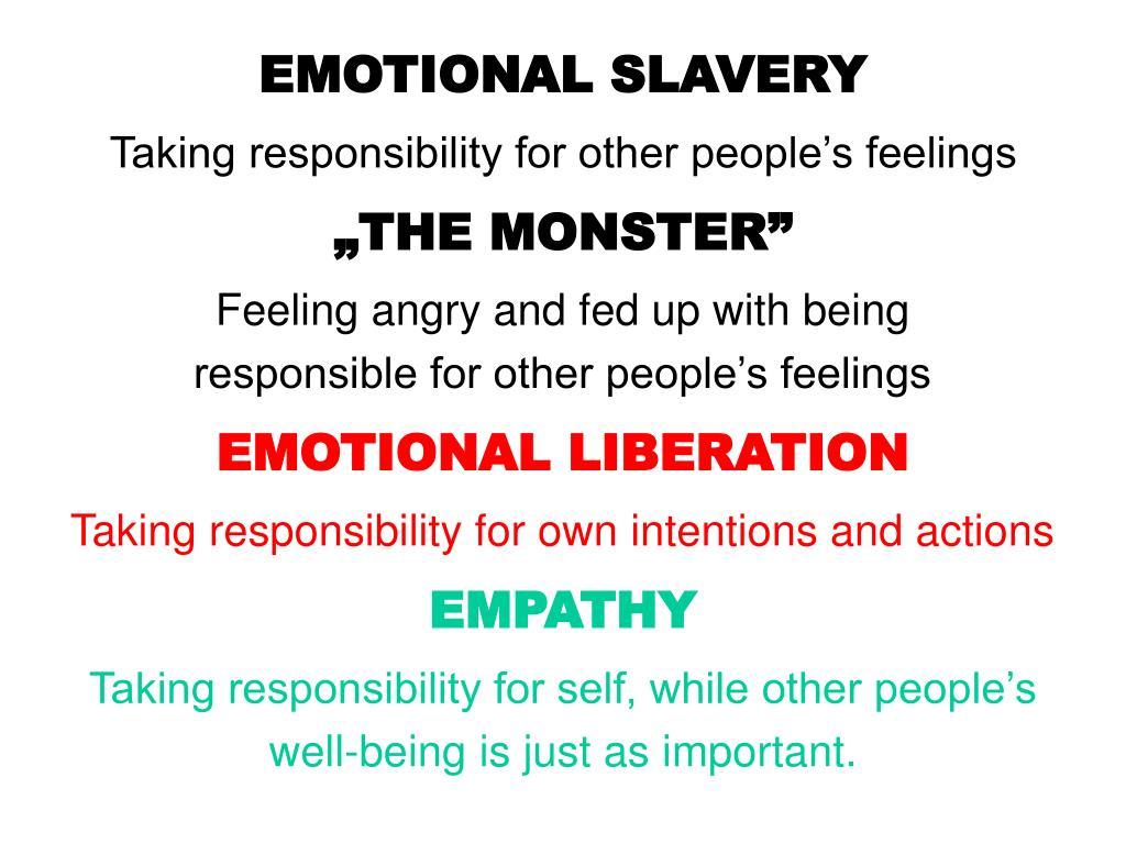 EMOTIONAL SLAVERY