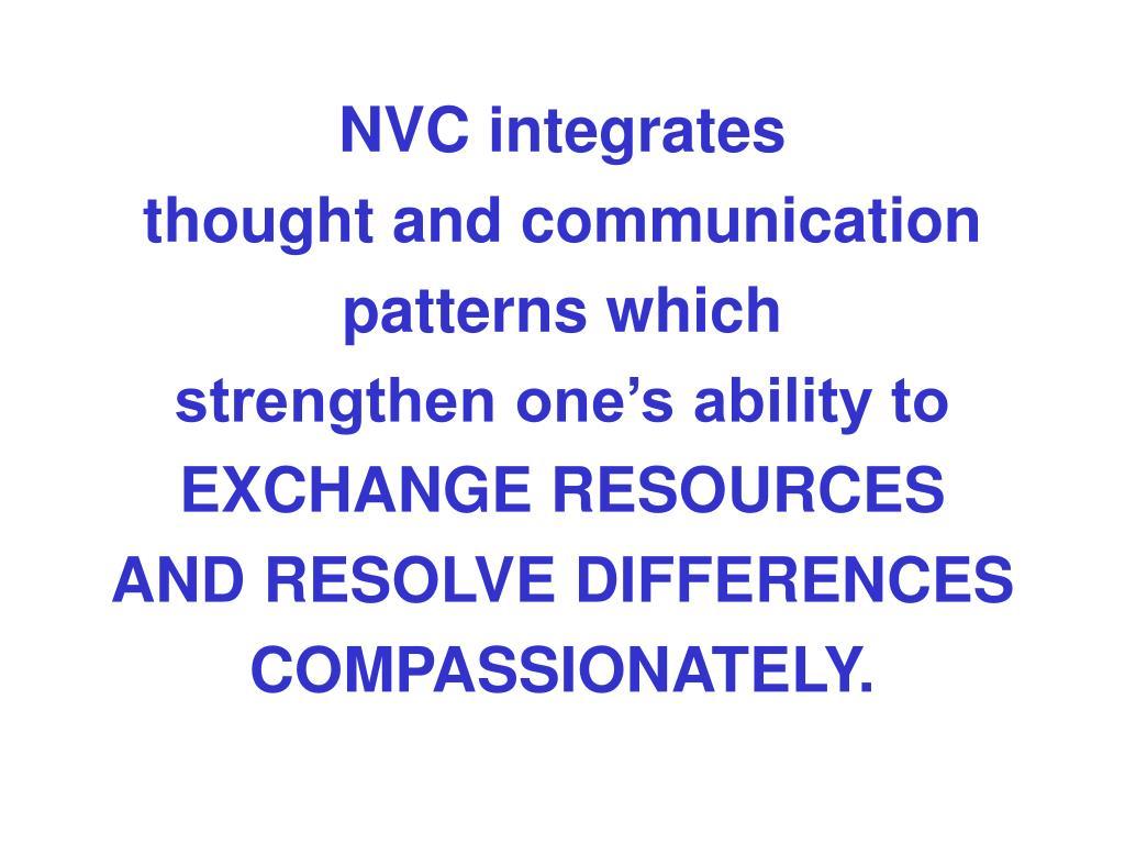NVC integrates