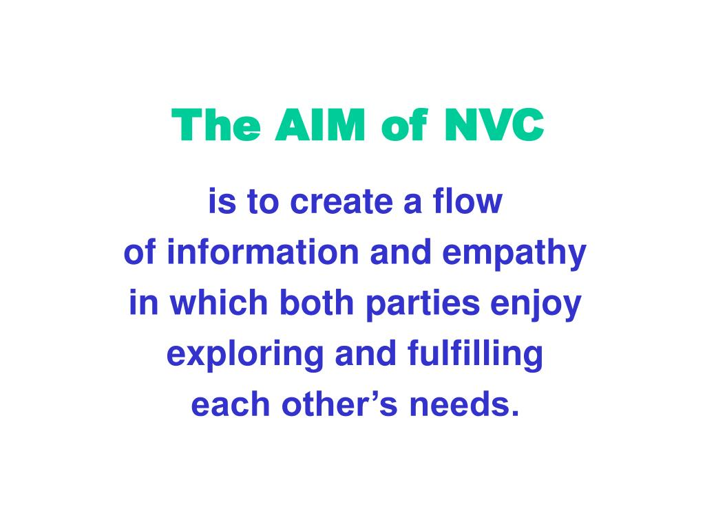 The AIM of NVC