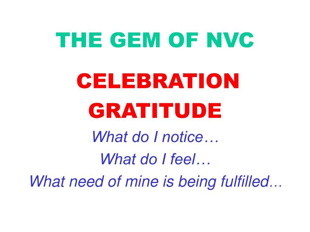 THE GEM OF NVC