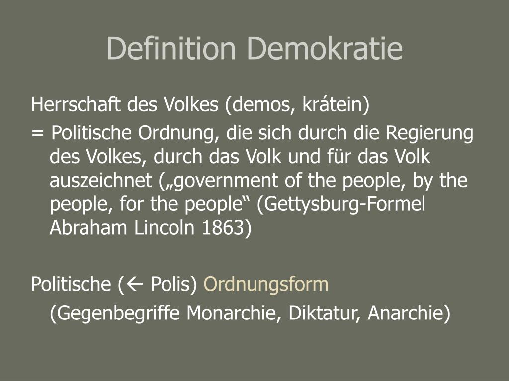 Definition Demokratie