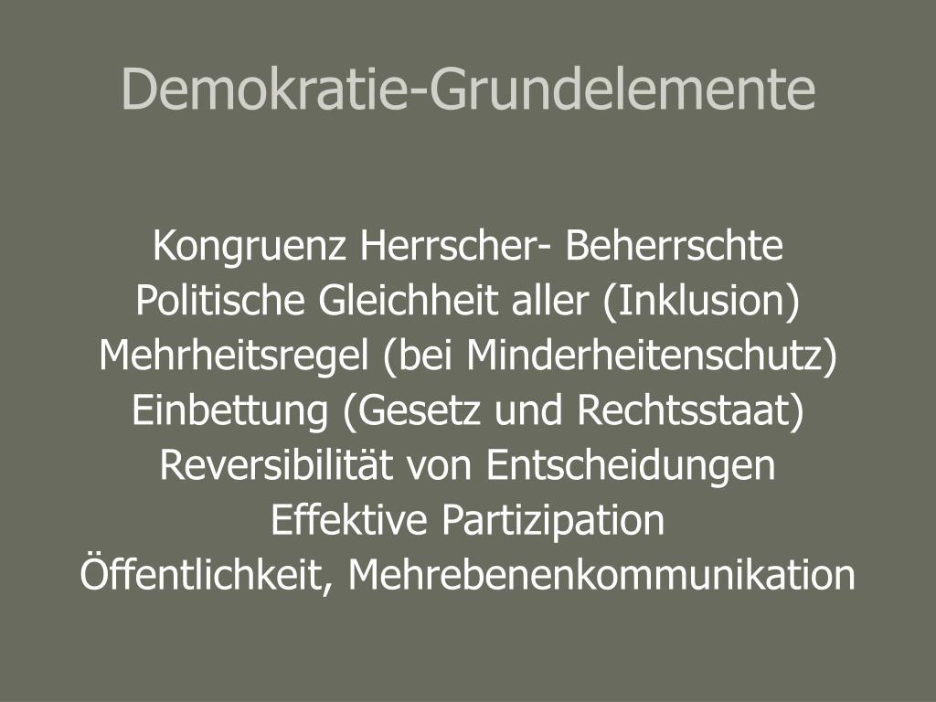Demokratie-Grundelemente