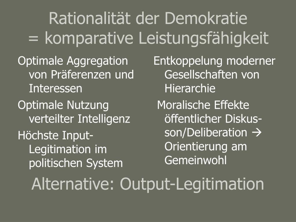 Optimale Aggregation von Präferenzen und Interessen