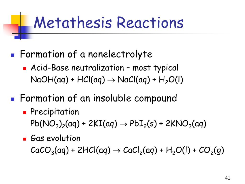 Metathesis Reactions