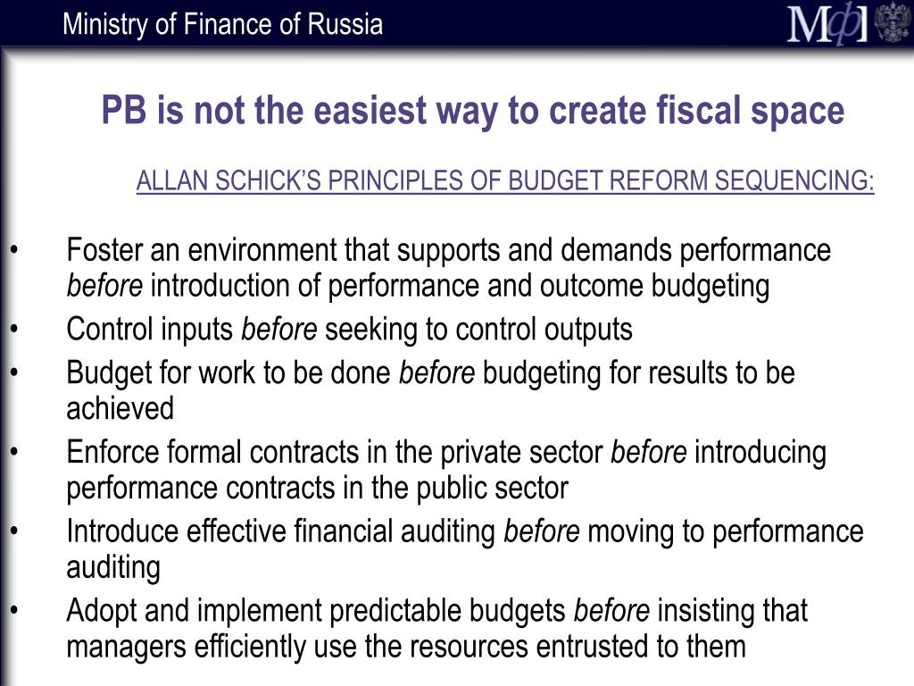 PB is not the easiest way to create fiscal space