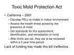 toxic mold protection act