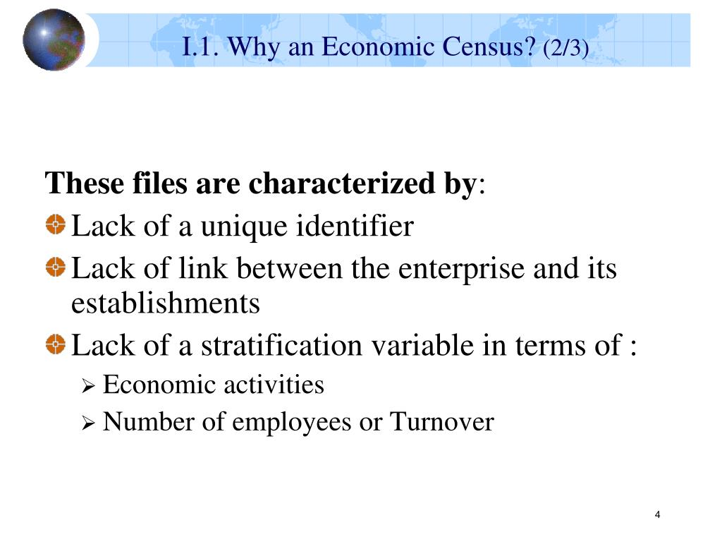 I.1. Why an Economic Census?