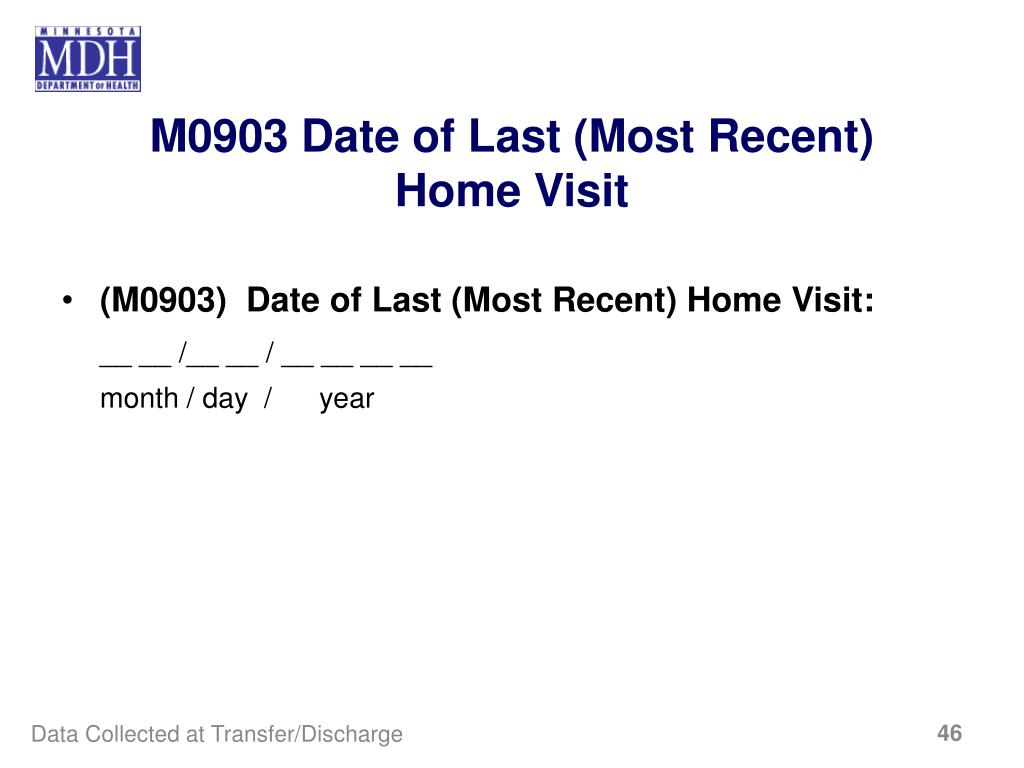 M0903 Date of Last (Most Recent)