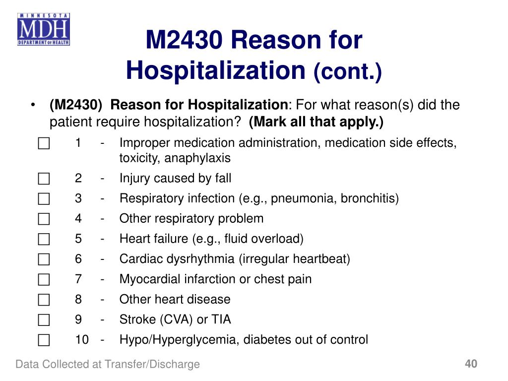 M2430 Reason for