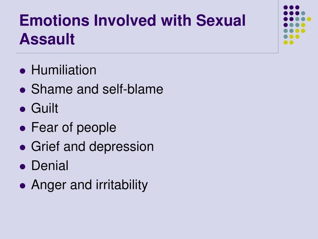 Emotions Involved with Sexual Assault