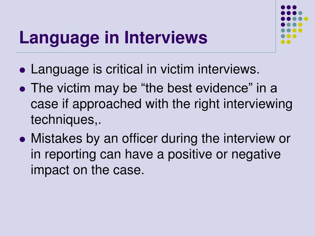 Language in Interviews