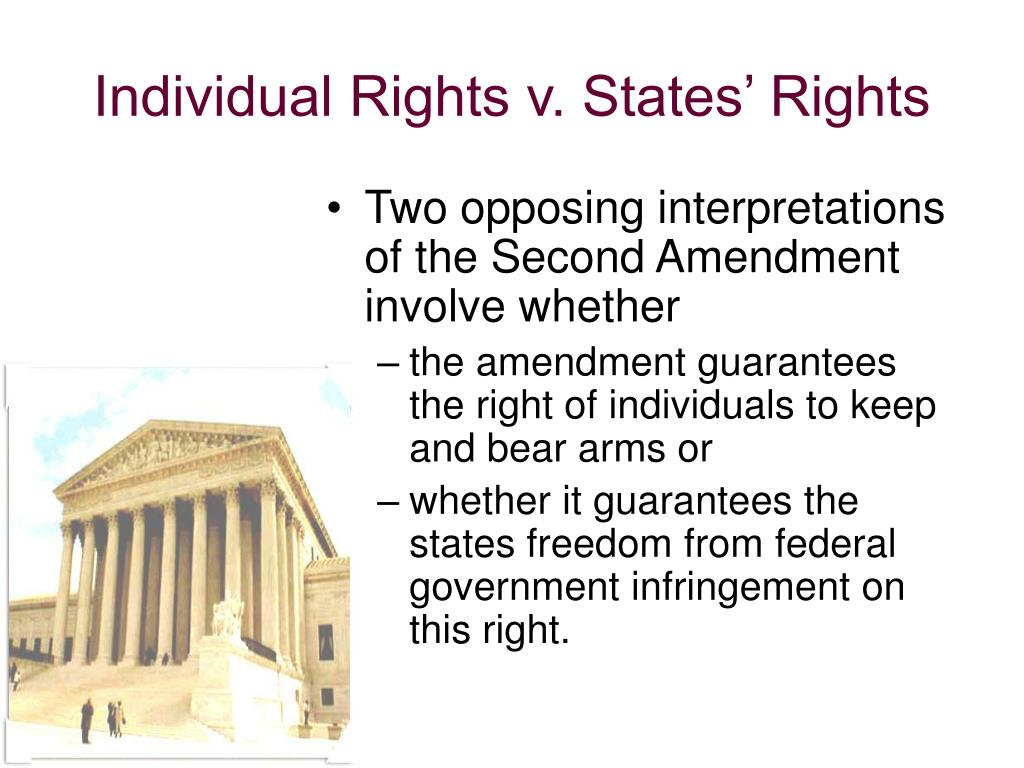 the controversy of individual versus state rights The supreme issue: the individual versus the state  it is where there is no  security for property that such human rights as freedom of speech and press and .