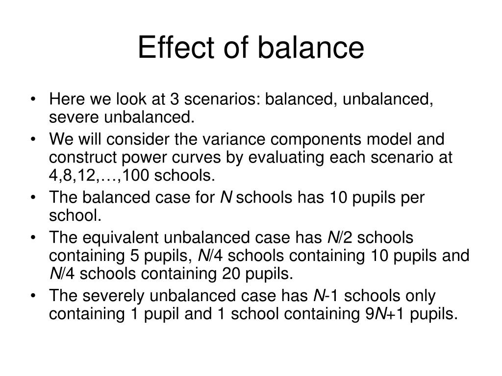 Effect of balance