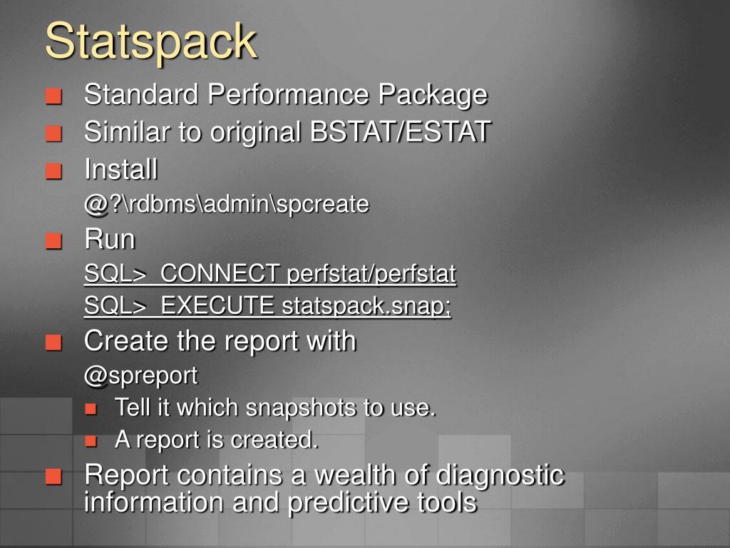 Statspack